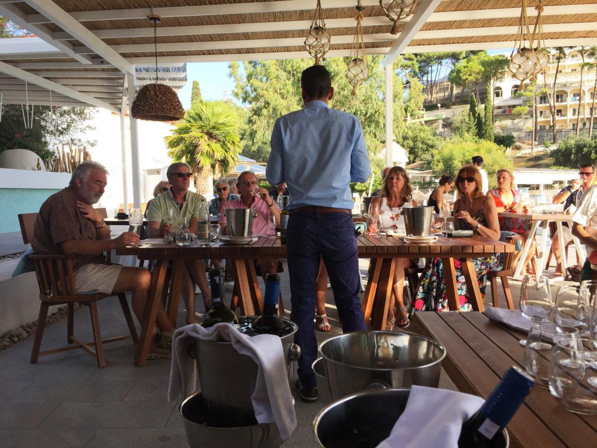 Akron beach bar restaurant paleokastritsa corfu Wine Tasting 00012